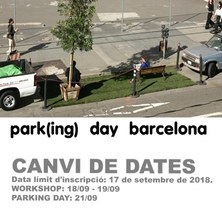 Workshop Park (ing) day - ETSAB - 21 de setembre